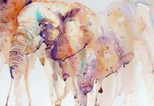 cours d'aquarelle a artacademie - comment dessiner un éléphant