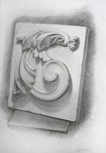 cours de dessin academique piece de ornement