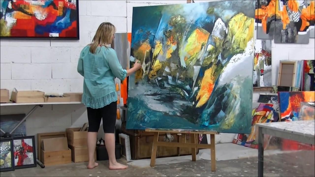 cours de peinture a l`huil abstrait