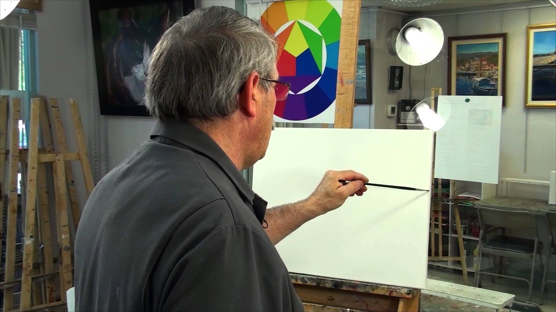 Cours в peinture acrylic debutent