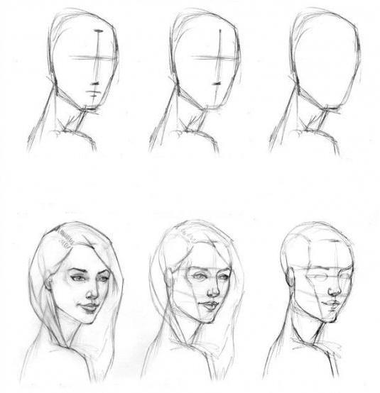 Cours de dessin gratuit pour débutant apprendre la creation d`autoportrait en quelque étapes