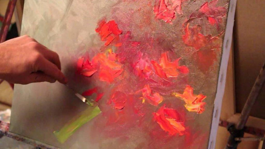 cours de peinture a l`huil sur toile autumn