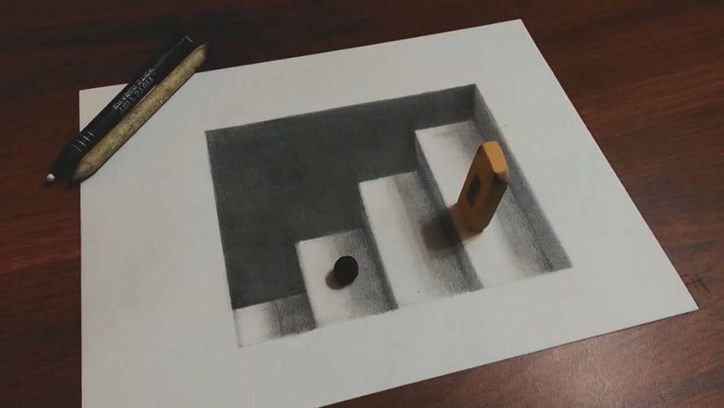 dessin super-realistic avec technique du base