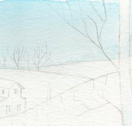 commencement-de-coloresation-de-paysage-aquarelle